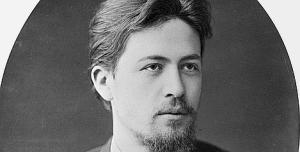 Writer Anton Chekhov. January 1889. Reproduction. From the collection of the Chekhov Museum-Apartment in Moscow.
